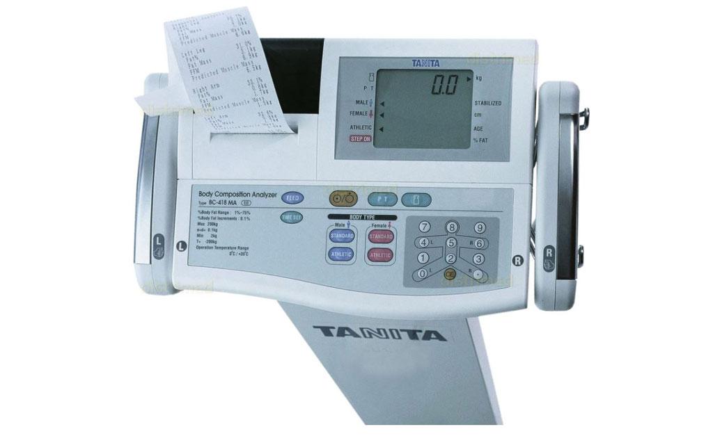 Aparato de impedancia bioeléctrica Tanita